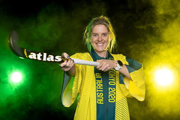 アイスホッケーオーストラリアチームのレーチェル・リンチ選手は、救急隊員でもある。2021年6月14日撮影。(Paul Kane/Getty Images)