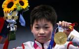 金メダルを獲得した全紅婵選手 (Photo by Tom Pennington/Getty Images)