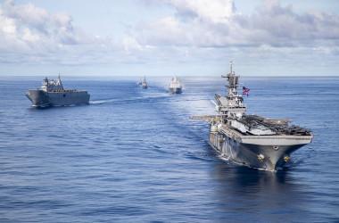 LSE2021演習に参加する米海軍の艦艇(US Navy)