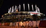 2021年8月8日、2020東京オリンピック競技大会の閉幕式が行われた(KAZUHIRO NOGI/AFP via Getty Images)