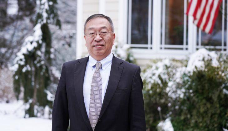 トランプ前米政権下でポンペオ前米国務長官の中国政策顧問を務めたハドソン研究所のマイルズ・ユー上級研究員(2021年2月11日、米マサチューセッツ州アナポリスにて)(Tal Atzmon/The Epoch Times)