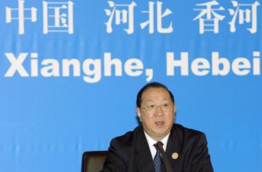 中国の金人慶・元財政部長 (LIU JIN/AFP via Getty Images)
