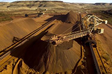 西オーストラリア州ピルバラ地域のトムプライス鉄鉱石鉱山(Getty lmages)