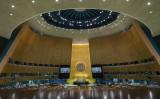 2021年9月25日にニューヨーク市の国連本部で開催された第76回国連総会(Photo by Eduardo Munoz - Pool/Getty Images)