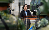 台湾の蔡英文総統。2020年4月撮影 (Photo by SAM YEH/AFP via Getty Images)