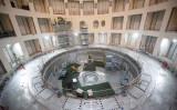 フランス南東部のサン=ポール=レ=デュランスで行われた国際熱核融合実験炉(ITER)(Photo by CLEMENT MAHOUDEAU/AFP via Getty Images)
