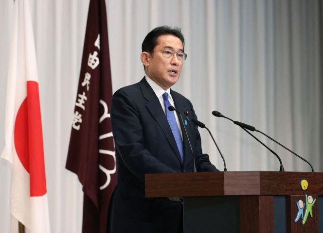 岸田文雄首相(Photo by STR/JIJI PRESS/AFP via Getty Images)