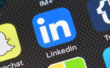 LinkedInのロゴ。 (Carl Court/Getty Images)