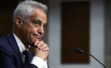 ラーム・エマニュエル次期駐日大使は20日、上院外交委員会の公聴会に出席し、所信を表明した (Photo by Alex Wong/Getty Images)
